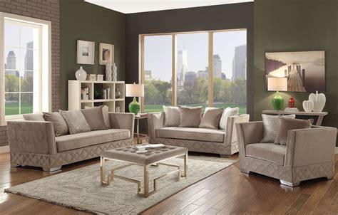 velvet living room furniture tamara beige velvet living room set from acme coleman