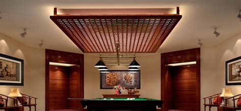 villa interior rendering decoration of ceiling wood
