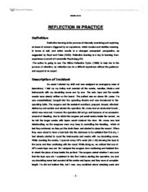 reflective essay communication skills in nursing
