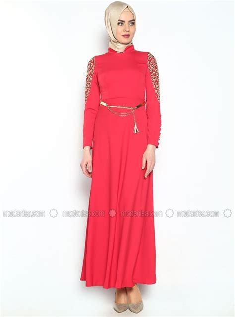 Millano Dress Maxy Tunik dantelli uzun abiye elbise mercan modaysa maxi