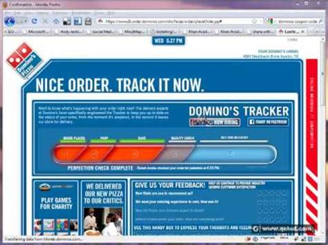domino pizza order domino s pizza online ordering system youtube