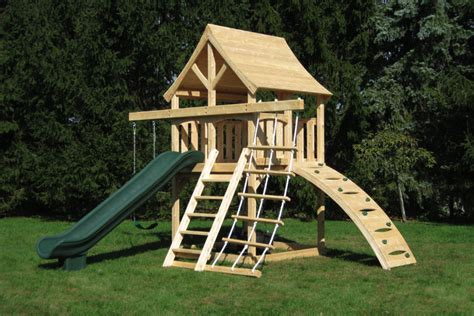 swing set spacing cedar swing sets the kelton space saver climber