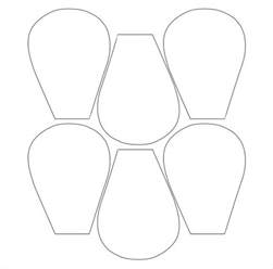 free cardstock templates best 25 flower template ideas on paper