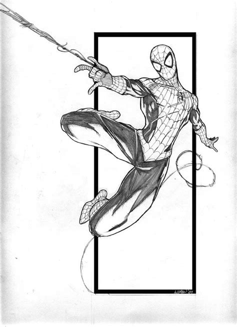 how to draw spiderman swinging spider man by andrew black comic art spider man pinterest