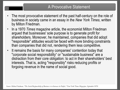 Milton Friedman Essays by Friedman Business Ethics Essay