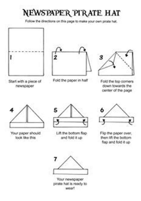 How To Make Paper Pirate Hat - how to make a paper hat oscar s diy paper hat