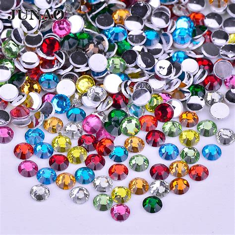 Nail Rhinestone Point Back Mix Color junao 500pcs 3mm mix color crystals flat back rhinestones glue on nails stones