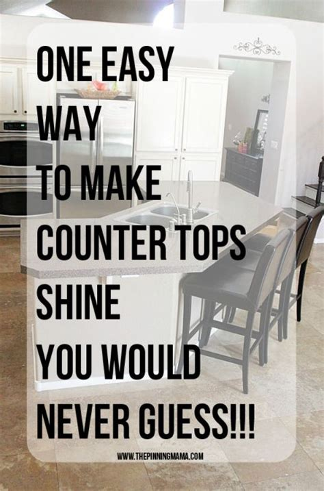 one easy trick to make your counter tops shine you would