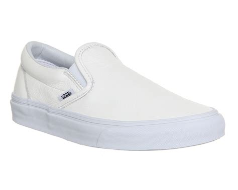 Slipon Adidas Premium Shoes Shopping vans classic slip on shoes premium leather white mono