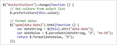 javascript date format globalization scottgu s blog jquery globalization plugin from microsoft