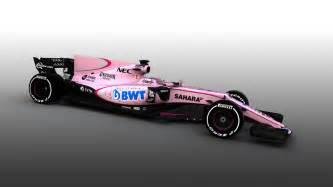 Pink Color Scheme F1 2017 Force India Reveals New Pink Color Scheme