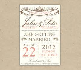 vintage save the date templates free items similar to save the date custom printable