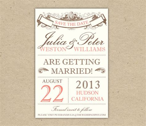 save the date custom printable template by bejoyfulpaper