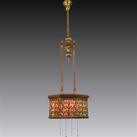 glass hanging light fixtures antique brass and slag glass hanging light fixture