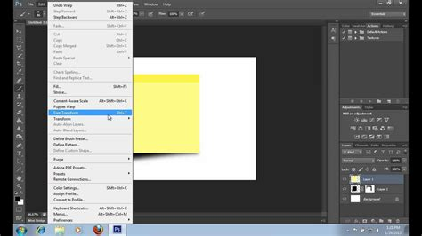 Adobe Photoshop Tutorial Notes | how to make a sticky note in photoshop cs6 youtube