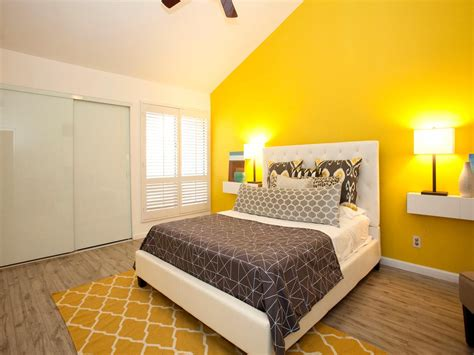 color contrast wall with yellow home combo