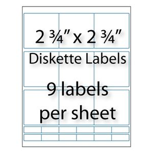 Avery Diskette Labels Template diskette labels 2 3 4 quot x 2 3 4 quot avery 174 5196 compatible