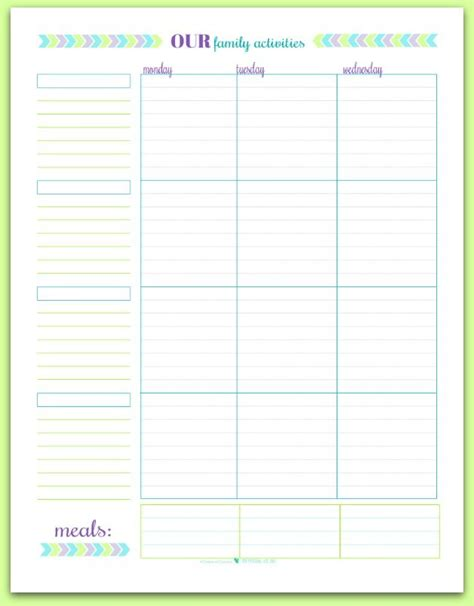 printable planner personal printable of the month free printable personal planners