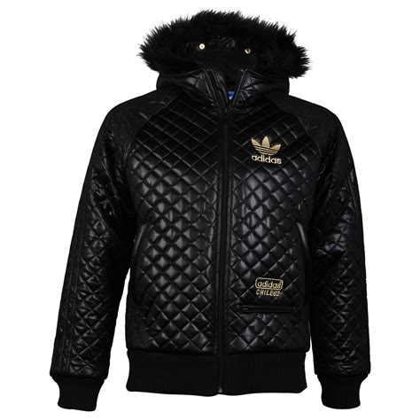 Adidas Quilted Bomber Jacket by Mens Adidas Originals Black Quilted Look Faux Fur