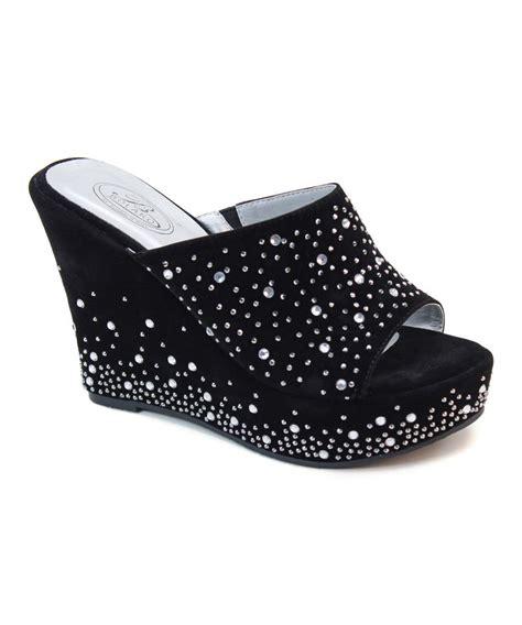 black rhinestone platform wedge shoes shoes more