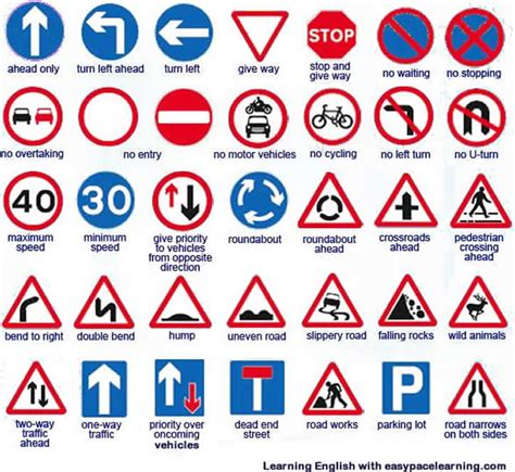 printable european road signs pics for gt english traffic signs and meanings