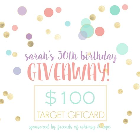 Birthday Giveaway - my 30th birthday giveaway sarah halstead