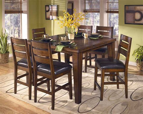 dining room pub sets signature design by ashley larchmont d442 32 6x124