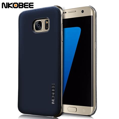 Samsung Galaxy S7 Edge Imak Back Cover Casing nkobee for samsung galaxy s7 edge leather transparent back cover for samsung galaxy s7