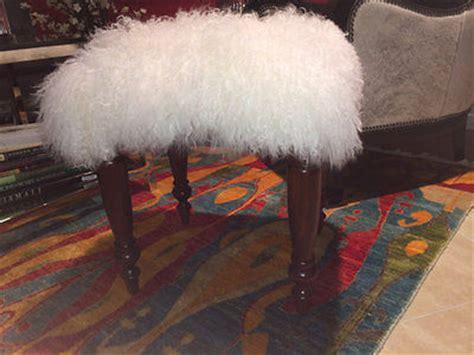 mongolian fur stool uk 1pcs white mongolian fur cushion cover bench stool