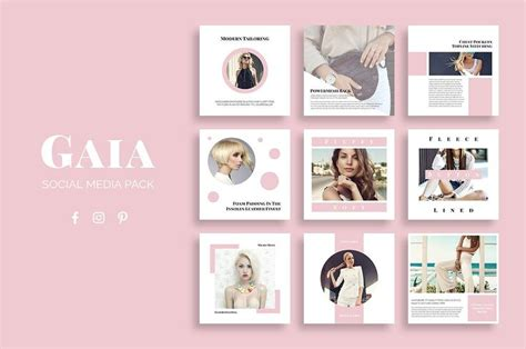 layout for instagram cost 123 best social media templates images on pinterest