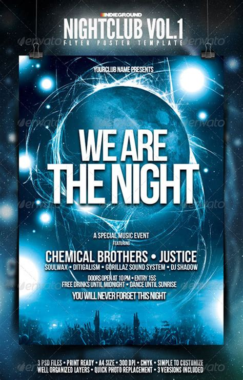 13 free nightclub flyer design templates images club