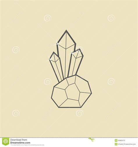 crystallography an outline of the geometrical properties of crystals classic reprint books outline with on yellow stock vector