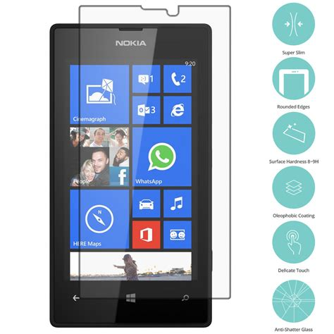 Tempered Glass Nokia Lumia 520 clear tempered glass screen protector clear for nokia