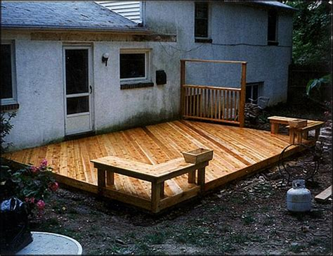 best deck designs basic ground level deck plans jbeedesigns outdoor