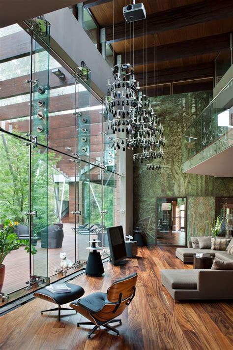 contemporary home decor cabana luxuosa no frio da floresta casa vogue interiores