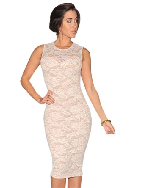 new fashion white fashion lace knee length dress