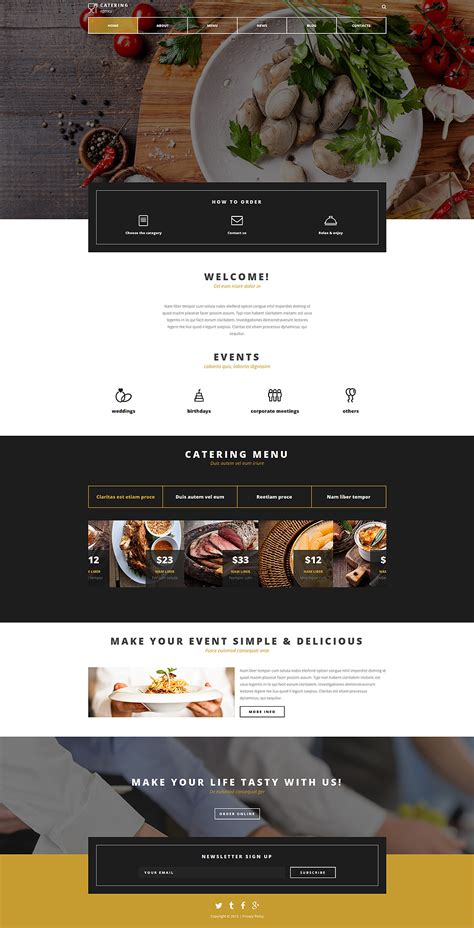 Catering Company Joomla Template Catering Website Templates Free