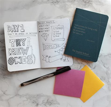doodle journaling ideas bullet journal secrets idea notebook just for fonts