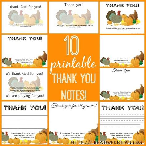 printable postcards for sunday school thankful thoughts printable thank you notes sunday