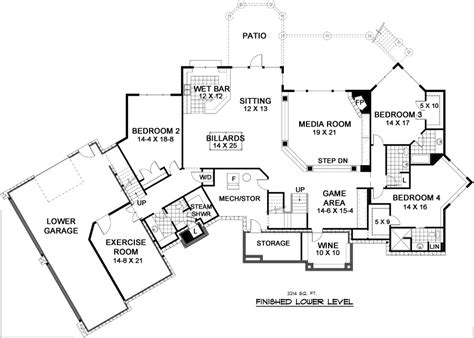 nantucket floor plan nantucket 9668 5 bedrooms and 4 baths the house designers