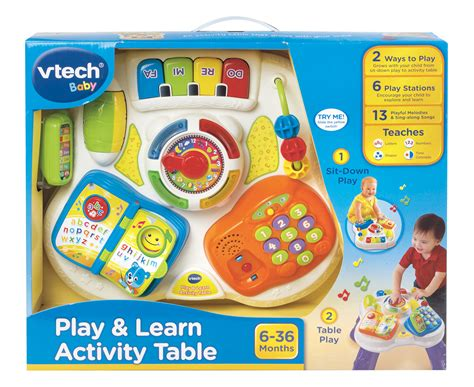 Vtech Play Learn Activity Table 3417761480038 Ebay