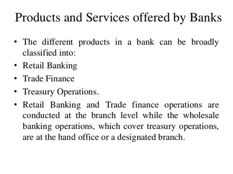 selling bank products and services banking ppt