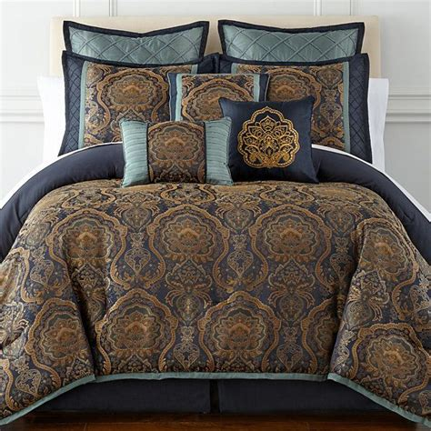 jcpenney queen comforter sets home expressions navarro 7 pc jacquard comforter set