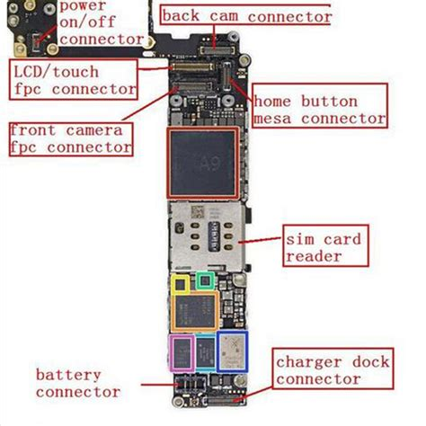 lcd display logic board connector for iphone 6s