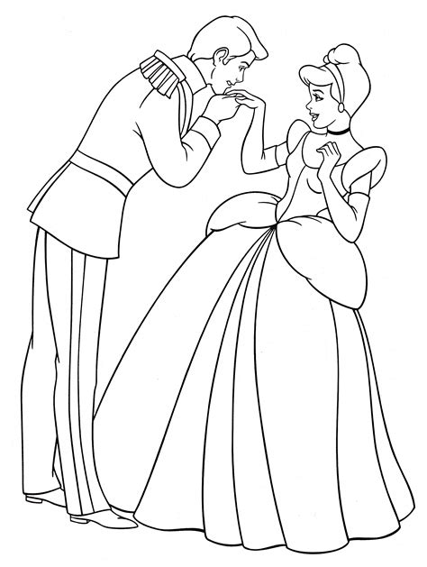 Walt Disney Coloring Pages Prince Charming Princess Princess And Prince Coloring Pages