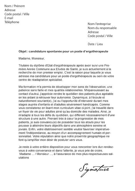 Lettre De Recommandation Après Un Stage Lettre De Motivation Ergoth 233 Rapeute Mod 232 Le De Lettre