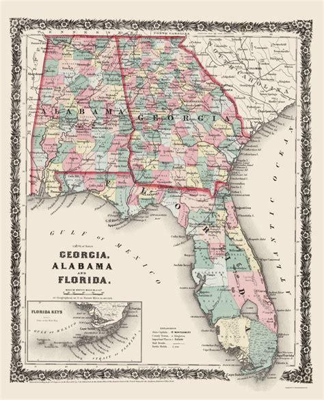 map of florida and alabama state maps alabama florida ga al fl by