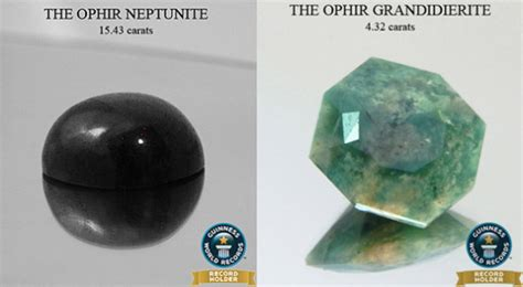 grandidierite engagement ophir gem collection achieves nine guinness world records