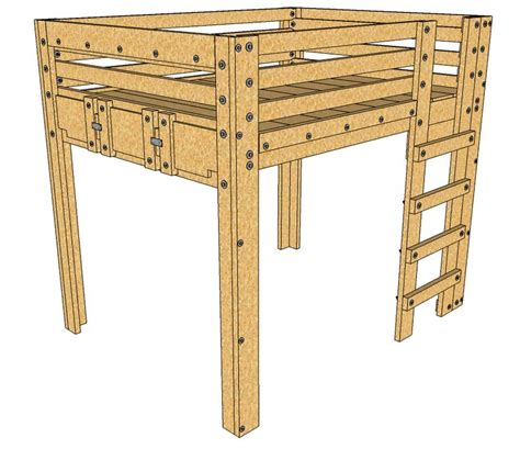 elevated bed frame plans best 25 loft beds ideas on lofted beds
