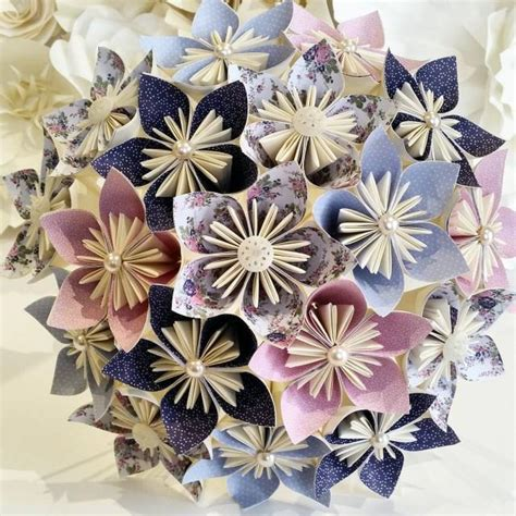 How To Make Vintage Paper Flowers - paper flowers bouquet origami bridal stationary uk rustic